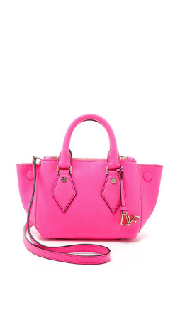 Diane Von Furstenberg Itsy Double Zip Satchel - Shocking Pink