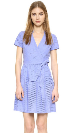 Diane Von Furstenberg Kaley Two Wrap Dress - Periwinkle Blue