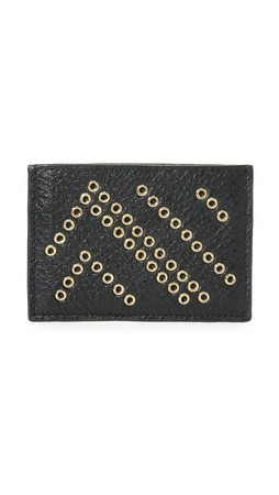Diane Von Furstenberg Voyage Tuxedo Card Case - Black/Gold