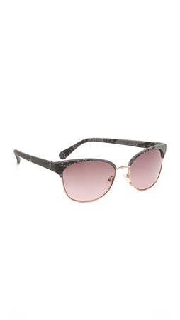 Diane Von Furstenberg Zianna Sunglasses - Black/Pink