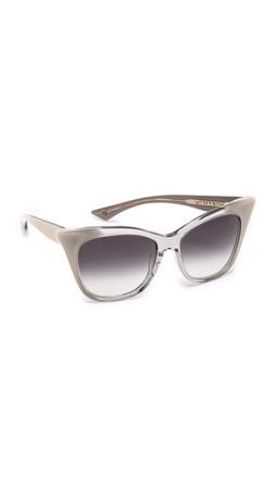 Dita Magnifique Sunglasses - Grey Crystal Cream/Dark Grey