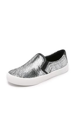 Dkny Bess Slip On Sneakers - Silver
