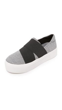 Dkny Bowen Slip On Sneakers - Grey/Black