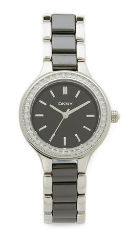 Dkny Chamber Watch - Silver/Black