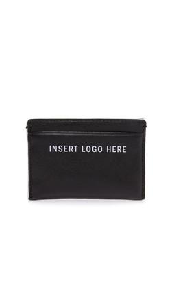 Dkny Insert Logo Here Card Holder - Black/White