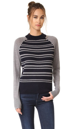 Dkny Pure Dkny Striped Pullover - Classic Navy/Flint