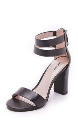Dkny Roberta Ankle Strap Sandals - Black