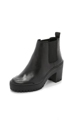 Dkny Silone Lug Sole Booties - Black