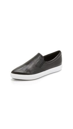 Dkny Trey Perforated Slip On Sneakers - Black