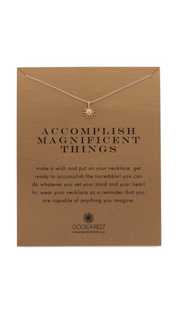 Dogeared Accomplish Magnificent Things Charm Necklace - Gold