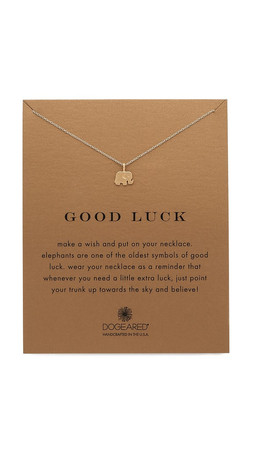 Dogeared Good Luck Charm Necklace - Gold