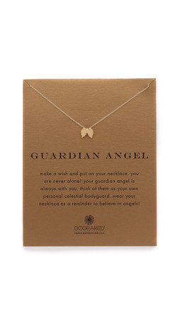 Dogeared Guardian Angel Charm Necklace - Gold