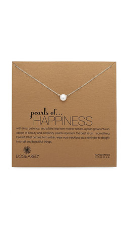 Dogeared Happiness Necklace - Pearl/Gold