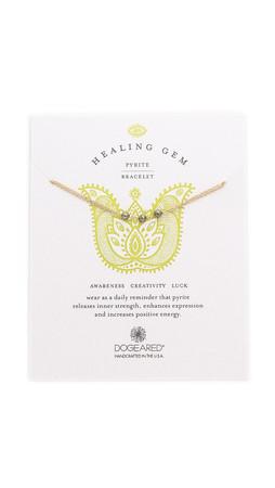 Dogeared Healing Gem Pyrite Bracelet - Gold/Pyrite