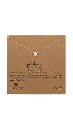 Dogeared Love Necklace - Pearl/Gold
