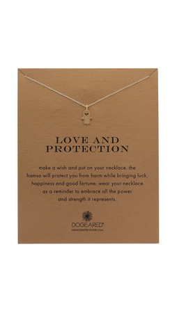 Dogeared Love & Protection Charm Necklace - Gold