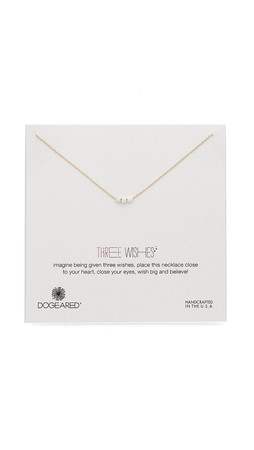 Dogeared Three Wishes Stardust Bead Necklace - Gold/Silver