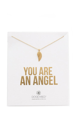 Dogeared You Are An Angel Necklace - Gold