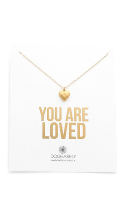 Dogeared You Are Loved Necklace - Gold