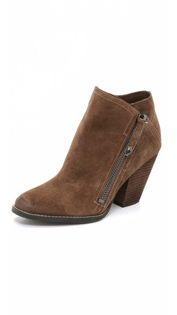 Dolce Vita Highlander Suede Zip Booties - Light Luggage