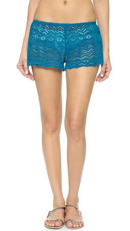 Eberjey Desert Star Sam Beach Shorts - Tourmaline Blue