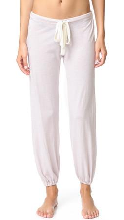 Eberjey Heather Cropped Pajama Pants - Lotus