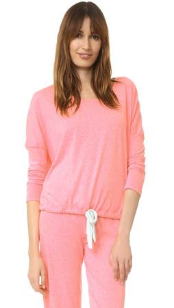 Eberjey Heather Slouchy Tee - Pink Glow/Pistachio