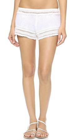 Eberjey Love Shack Aster Shorts - White