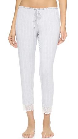 Eberjey Secret Attic Slim Pants - Earl Grey