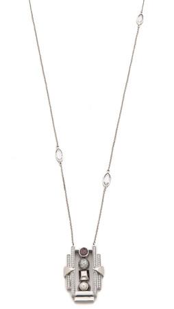 Eddie Borgo Collage Pendant Necklace - Rose Quartz/Olive/Pearl