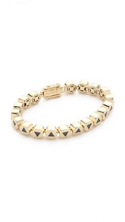 Eddie Borgo Crystal Triangle Link Bracelet - Gold/Jet