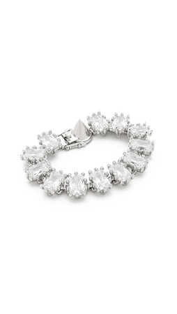 Eddie Borgo Small Rectange Estate Bracelet - Silver/Clear
