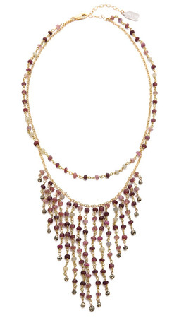 Ela Rae Double Fringe Necklace - Ruby