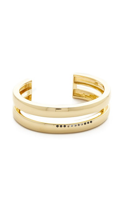 Elizabeth And James Abbott Cuff Bracelet - Gold/Clear/Black
