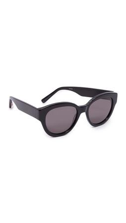 Elizabeth And James Atkins Sunglasses - Black/Smoke Mono