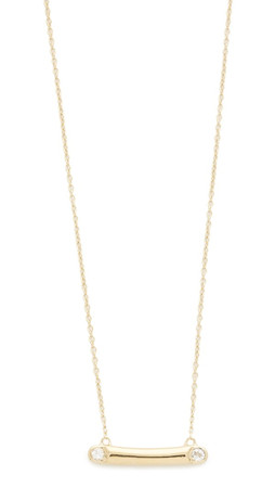 Elizabeth And James Bea Necklace - Gold/Clear