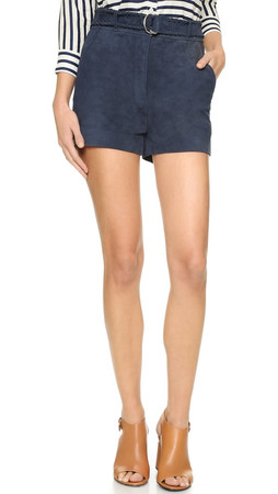 Elizabeth And James Lalette Suede Shorts - French Navy