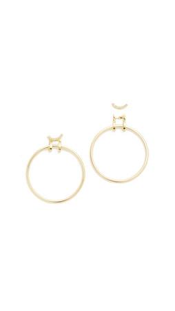 Elizabeth And James Neri Hoop Earrings - Gold