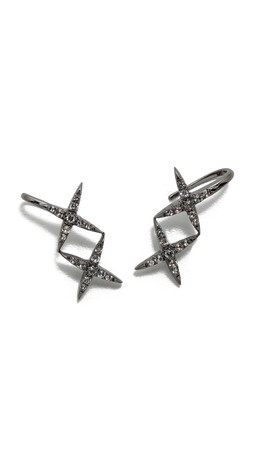 Elizabeth And James Vida Ear Cuff Earrings - Black Ruthenium
