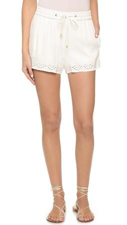 Ella Moss Dina Eyelet Shorts - White