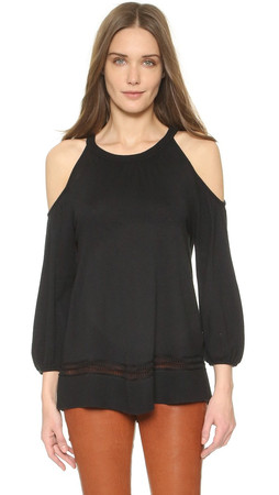 Ella Moss Eve Cold Shoulder Sweater - Black