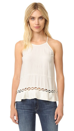 Ella Moss Stella Sleeveless Blouse - Natural