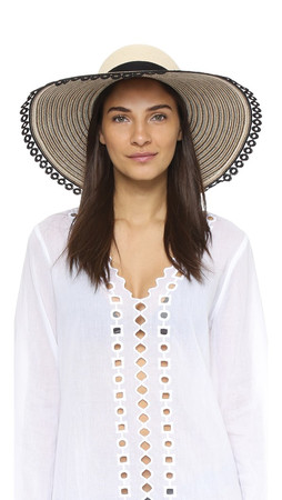 Eugenia Kim Honey Hat - Ivory/Camel/Black