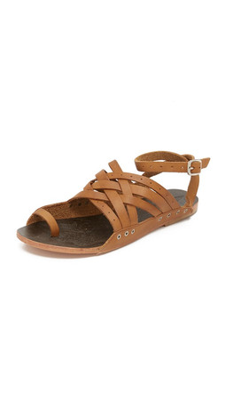 Free People Belize Strappy Sandals - Tan
