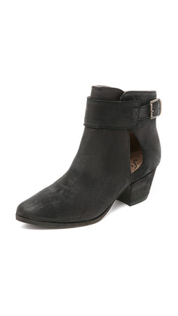 Free People Belleville Ankle Booties - Black