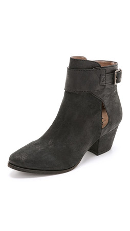 Free People Belleville Ankle Boots - Black