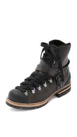 Free People Breakwater Hiker Boots - Black
