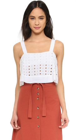 Free People By My Side Blouse - White