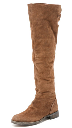 Free People Carlisle Tall Boots - Honey Whiskey