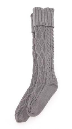 Free People Cozy Cable Socks - Charcoal